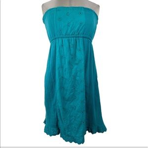 MAURICES teal tube top dress
